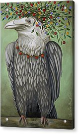 Acrylic Print featuring the painting Tribal Nature by Leah Saulnier The Painting Maniac