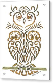 Tribal Owl Acrylic Print