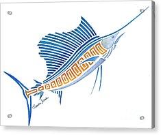 Tribal Sailfish Acrylic Print