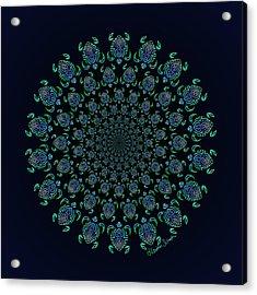 Tribal Turtle Tunnel Acrylic Print