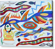 Tribal Visions Acrylic Print by Charles McDonell