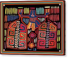 Tribal Woman Fanning Stove Acrylic Print