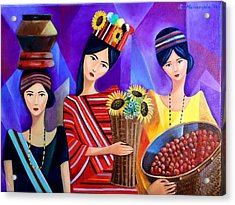 Tribal Women Acrylic Print by Khristina Manansala