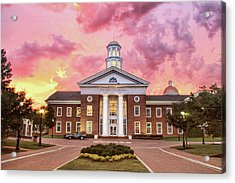 Trible Library Under A Crayola Sky Christopher Newport University  Acrylic Print