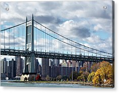 Triboro Bridge In Autumn Acrylic Print