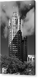 Tribune Tower 435 North Michigan Avenue Chicago Acrylic Print by Christine Till