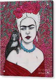 Acrylic Print featuring the mixed media Tribute by Natalie Briney