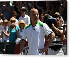 Tribute To Agassi Acrylic Print by Anne Babineau