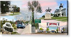 Tribute To Columbia Sc Acrylic Print by Greg Joens
