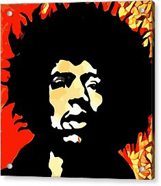 Tribute To Hendrix Acrylic Print