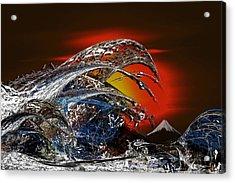 Tribute To Hokusai Acrylic Print by Tony Marquez