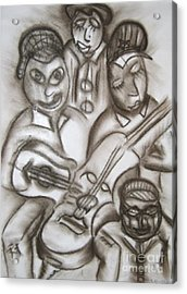 Tribute To The String Bass Acrylic Print