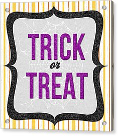 Trick Or Treat- Art By Linda Woods Acrylic Print by Linda Woods