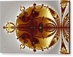 Tricorns Mandelbrot Enclosed Acrylic Print