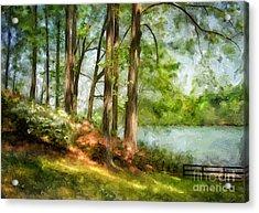 Tridelphia Lake In May Acrylic Print by Lois Bryan