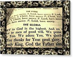 Tridentine Missal Acrylic Print