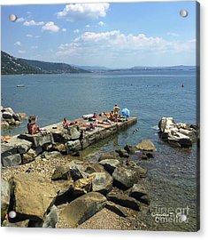 Trieste Miramare Beach Acrylic Print by Italian Art