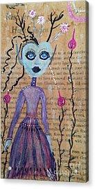 Trillium Acrylic Print by Julie Engelhardt