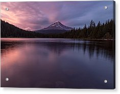 Acrylic Print featuring the photograph Trillium Lake Glow by Patricia Davidson