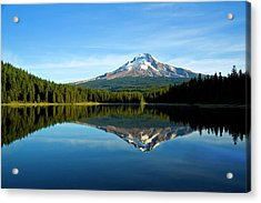Trillium Lake Mt Hood Fall Acrylic Print