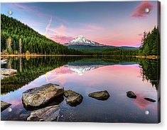Trillium Lake Reflection Acrylic Print