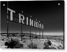 Trinidad Colorado Sign Simpsons Rest Acrylic Print