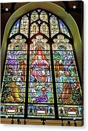 Acrylic Print featuring the photograph Trinity Church Galveston by Wilhelm Hufnagl