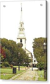 Trinity Church In Newport Ri Acrylic Print by Diane E Berry