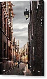 Acrylic Print featuring the photograph Trinity Lane Cambridge by Gill Billington