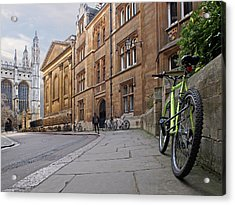 Acrylic Print featuring the photograph Trinity Lane Clare College Cambridge Great Hall by Gill Billington