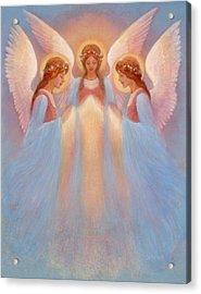 Trinity Of Angels Acrylic Print by Jack Shalatain