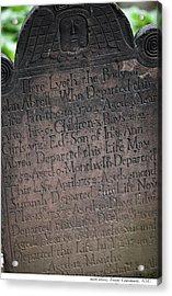 Trinity Tombstone Acrylic Print