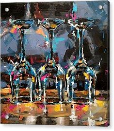 Trio Acrylic Print by Christine Karron