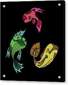 Trio Fish Acrylic Print