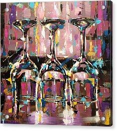 Trio II Acrylic Print by Christine Karron