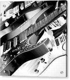 Trio Of Guitars Acrylic Print by David Patterson