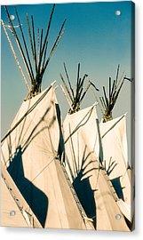 Trio Of Tipis Acrylic Print by Todd Klassy