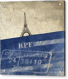 Trip To Paris Square Pillow Size Acrylic Print by Edward Fielding