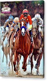 Triple Crown Winner Justify 2 Acrylic Print