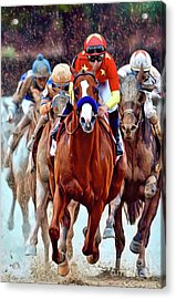Triple Crown Winner Justify Acrylic Print