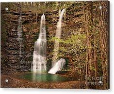 Triple Falls Landscape Acrylic Print by Tamyra Ayles
