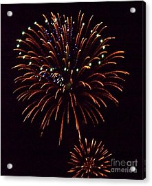 Triple Firework Acrylic Print by Emily Kelley