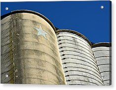 Triple Silo With Star Acrylic Print