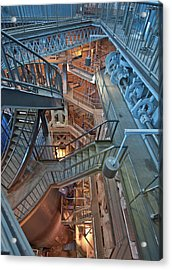 Acrylic Print featuring the photograph Triple Steam Stairs 2 by Rick Hartigan