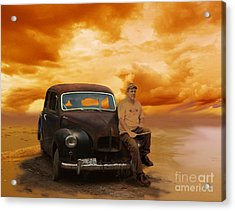 Trippin' With My '48 Austin A40 Acrylic Print