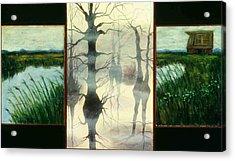 Triptych Acrylic Print by Helen O Hara