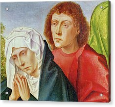 Triptych Of The Crucifixion Acrylic Print by Gerard David