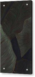 Triptych Two - Big Leaves Acrylic Print by Megan Thielman