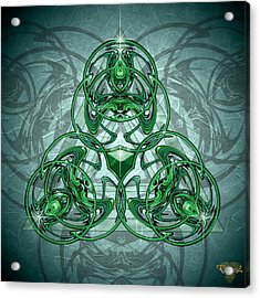 Triskellion Acrylic Print by Greg Piszko