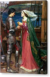 Tristan And Isolde With The Potion Acrylic Print by John William Waterhouse
